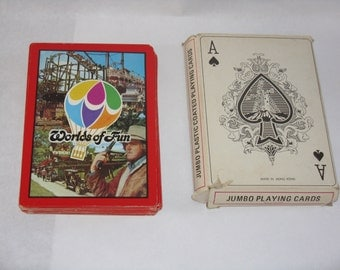 Jumbo plastic coated playing cards Worlds of Fun