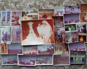 PRICE REDUCED - 96 1960's-70's All Color Vintage Photos of Weddings, Children, Air Force, Planes, Countryside & Etc... Estate Find