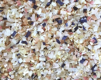 Blush Navy Blue Champagne Ivory Biodegradable Confetti Wedding Send Off Throwing Confetti Tissue Paper InsideMyNest (25 Guests)