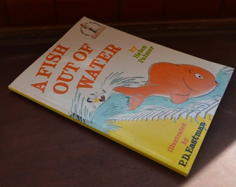 A Fish Out of Water by Helen Palmer - Illustrated by P.D. Eastman - 1989 Vintage Kids Books - Dr. Suess Beginner Book