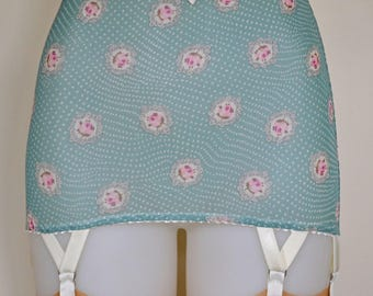 END OF LINE Antique Turquoise Dotty Roll On Girdle