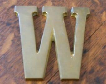 Brass W Initial Trivet