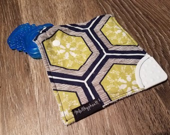 Teether Toy - Binky Keeper - Pacifier Holder - Baby Teether - Toy Holder - Travel Teether - Binky Holder - Pacifier Keeeper - Teether