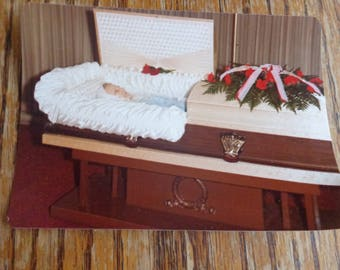Post Mortem Photograph Lady In Coffin Post Mortem Funeral Photo 70s Post Mortem Photograph