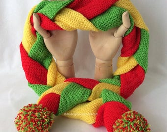 Traffic Light Swirl Scarf
