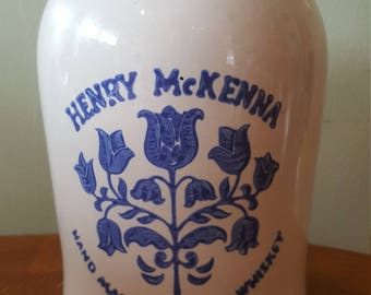 "Henry McKenna Kentucky Whiskey Jug 1/2 gallon, 10"" Tall"