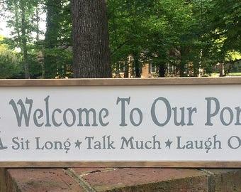Porch Signs. Farmhouse Porch Sign. Welcome To Porch Sign. Decor for Porch