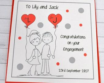 Personalised Customised Engagement Card