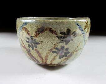 Mashiko-ware Hand-Shaped Chawan Tea Bowl, Koedo
