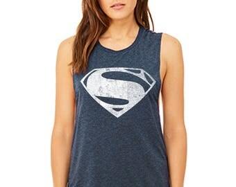 Woman of Steel Flowy Scoop Muscle Tank