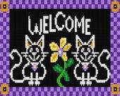 Items Similar To Blackboard Kitty Welcome Mat 2 Latch
