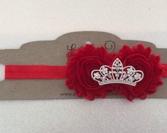 Princess Elena inspired headband-red crown headband-red birthday crown- red birthday headband