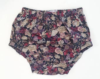 Bloomers in Plum Floral