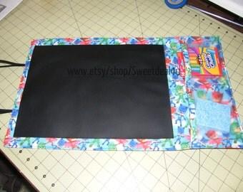 "PJ Masks Fabric Roll Up Chalkboard Travel Mat 12"" x 20"", Black Board, Placemat, Design Mat, Chalk Drawing Mat"