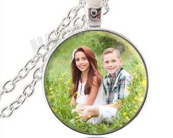 Custom Photo Pendant Necklace, Design Your Own Necklace, Personalized Jewelry, Custom Pendant, Mothers Day Gift