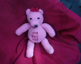 Knitted cuddly toy