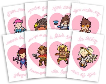 Overwatch Valentines Cards ~ Blizzard ~ 100mm x 150mm Greeting Card