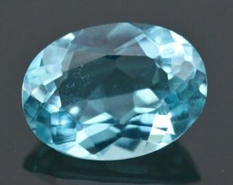 1.12 cts APATITE Paraiba Blue Oval Facet-Cut VS Clean Natural Gemstone Brazil