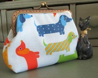 Sausage dog purse, Daschund purse
