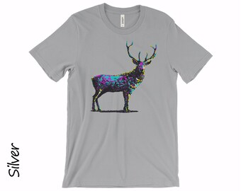Deer T-shirt Unisex Tshirt Women's T-shirts Mens T-shirt Deer T-shirt Cotton T-shirt Graphic T-shirts DeerTee Funny Tshirt Gift