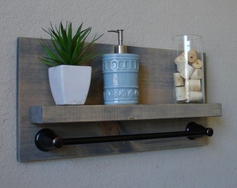 Simply Modern Rustic Bathroom Shelf