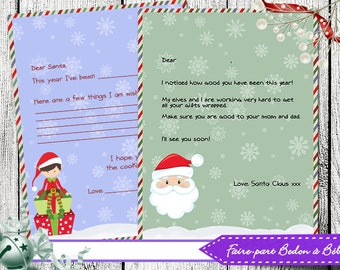 Letter to santa etsy letter from santa claus official santas letter from the north pole printable authentic santa spiritdancerdesigns Image collections