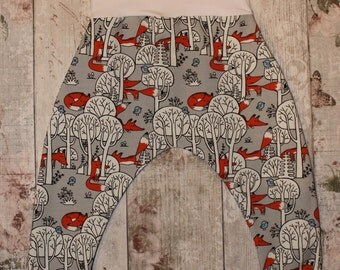 Peedie Boo Harem Style Trousers......Foxes in the Trees!