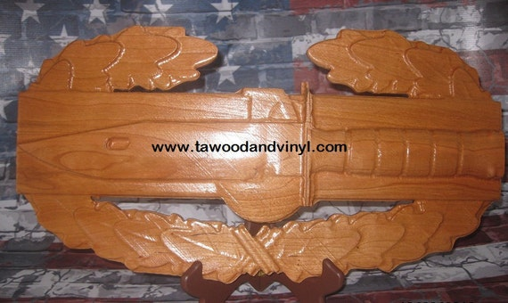 combat action badge, US Army,  Combat Action, bayonet ,M67 grenade, Carved wood, woodworking Army, gifts, gifts for men, combat gifts,