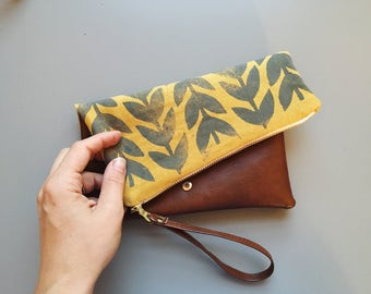 Athens Vegan Leather Folded Clutch