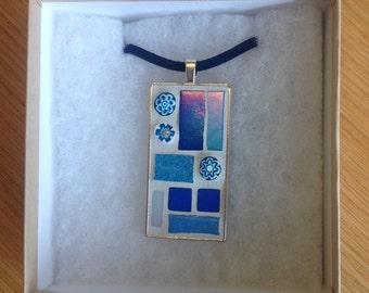 Mosaic Pendant - Blue