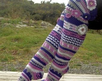 Crochet Long Stocking Socks