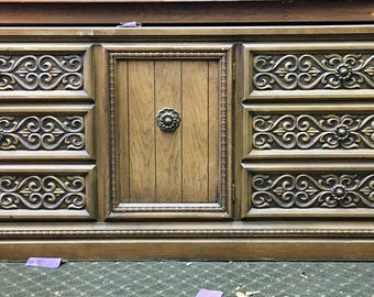 Carved Front Dresser or Credenza - Available for Custom Lacquer.