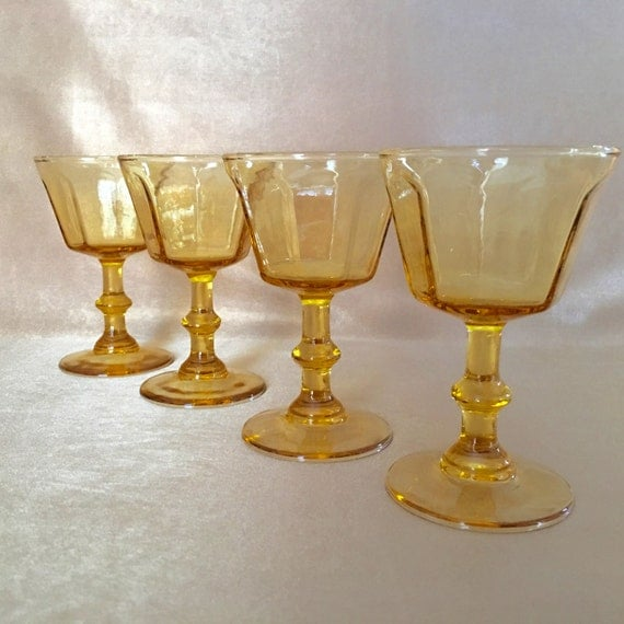 Vintage Wine Glasses Lenox Antique Yellow Small Wine Glass