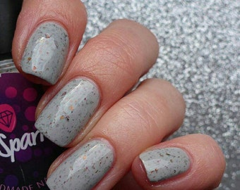 Grool!~Queenbees&Wannabees Collection Ultra Chome Chameleon UCC Flakies Grey Crelly 10ML