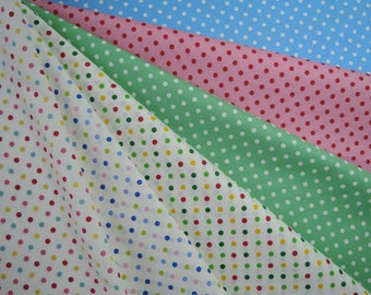 Bundle of 1/8 Colorful Dots in 6 Colorways. Made in Japan