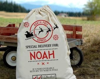 Santa Bag - Personalized Santa Bags - Custom Santa Bag