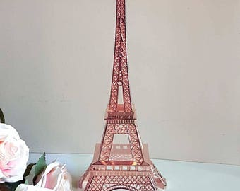 Small Rose Gold Eiffel Tower Centerpiece