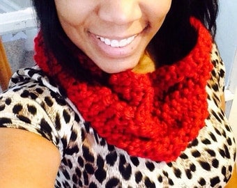 Chic Knit Cowl Knitted Infinity Scarf