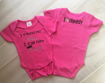 I Found my Prince, His Name is Daddy, I love Daddy, Daddy's Girl Outfit, Dad is My Prince, Valentines Day Outfit, Daddy and Daughter
