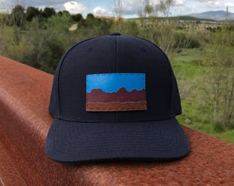 DESERT MOUNTAINS - Navy Blue Snapback Hat