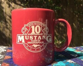 Mustang Club of Indianapolis Coffee Mug 1989