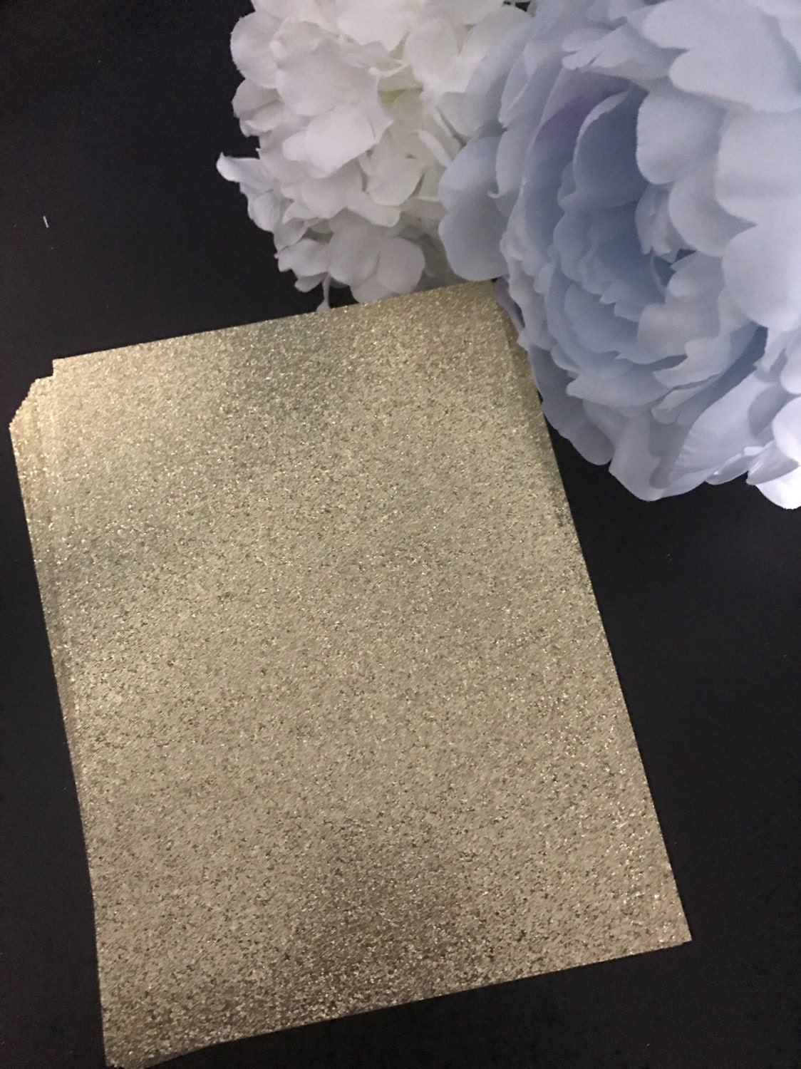 Gold color cardstock paper 5x7 -  20 00