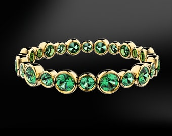 EMERALD Eternity Gold Ring