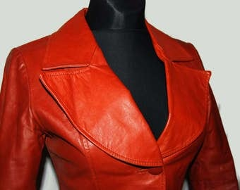 60's leather jacket, Made in Finland