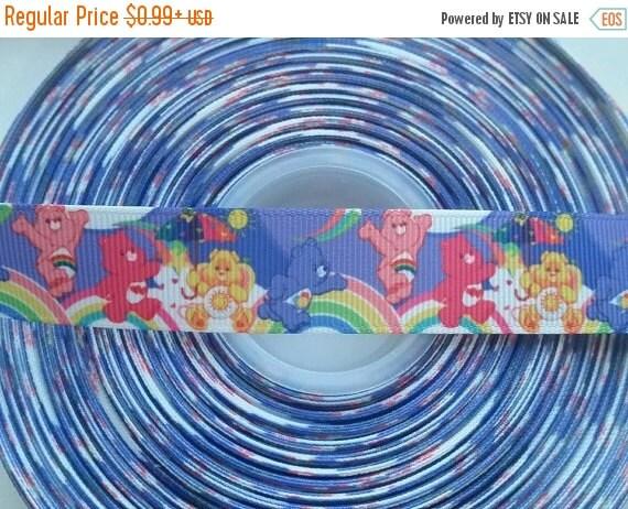 "SUPER SALE CARE Bears Inspired 7/8"" Grosgrain Hair Bow Craft Ribbon 782600"