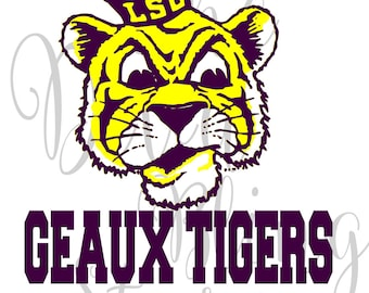 GEAUX Tigers - LSU Inspired  SVG File