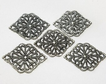 Antique Silver, Filigree, Stamping, Earring, Ring, Lot, Steampunk, Mixed Media, Jewelry, Beading, Supplies