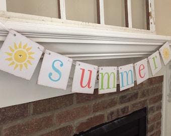Summer Banner• Summer Decorations Summer Garland • Home Decor • Home Decorations