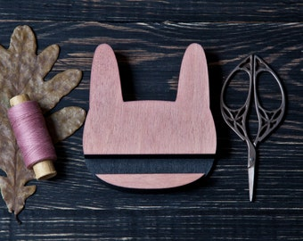 Bunny Tablet Stand, Pink Phone Stand, Wooden Docking Station, kitchen tablet stand, Pink Tablet Holder, Wooden Kitchen Accessories