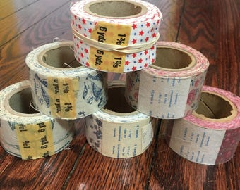 Vintage Fabric Craft Ribbon Trim - Floral, Stars, Cooking